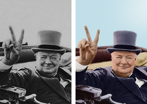 Colorize black and white photos and add color to old faded photos. sample image #2