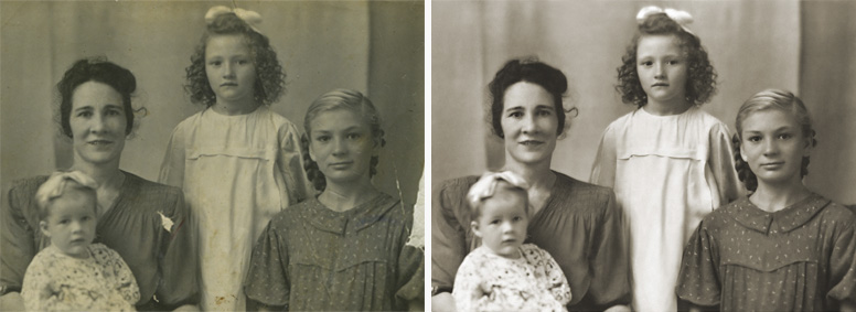 Restore old photos and repair damaged photos.  sample image #0